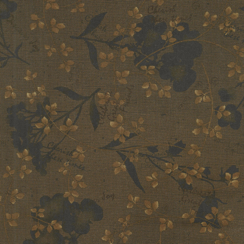 Tickled Pink - Natural Silhouette Brown Yardage