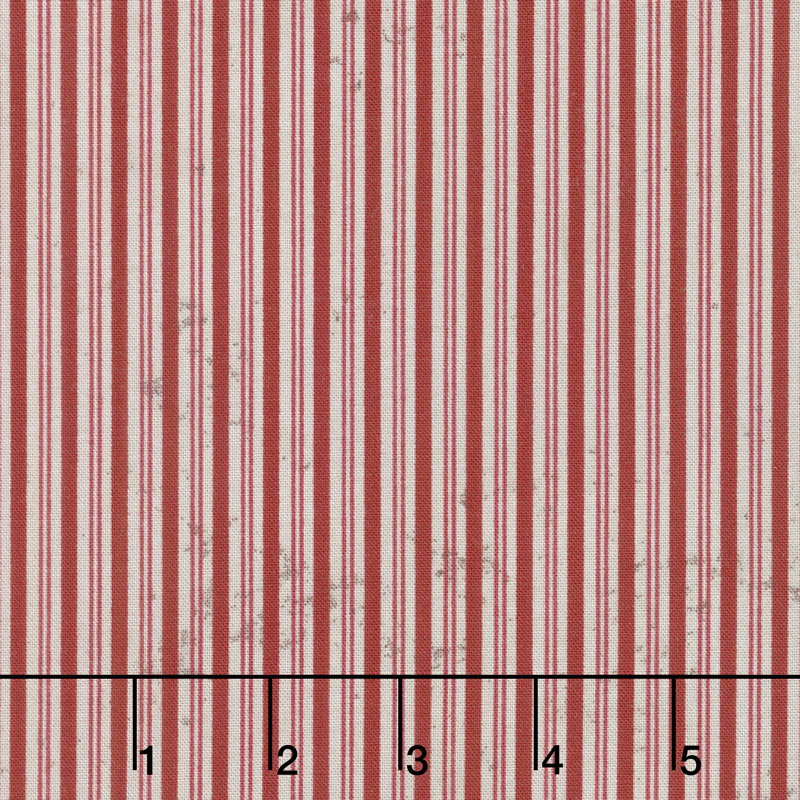 Eclectic Elements - Merriment Pinstripe Red Yardage