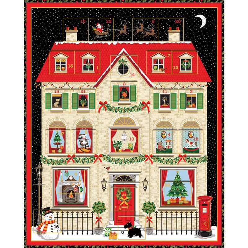 House Advent Calendar Kit Makower Uk Andover Fabric