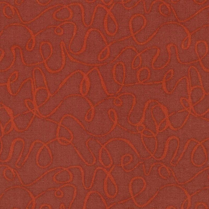 Scribbles - Terracotta Yardage