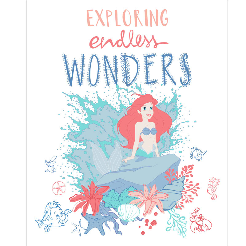 The Little Mermaid Endless Wonders White Panel Camelot
