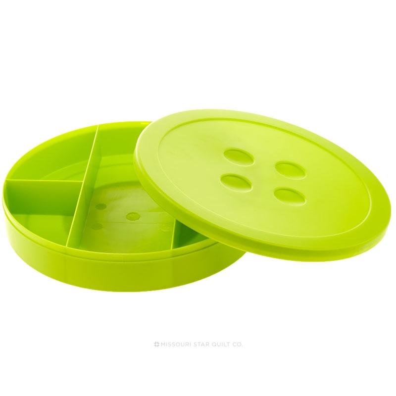 Lime Button Shaped Storage Box 9 Diameter Lansing