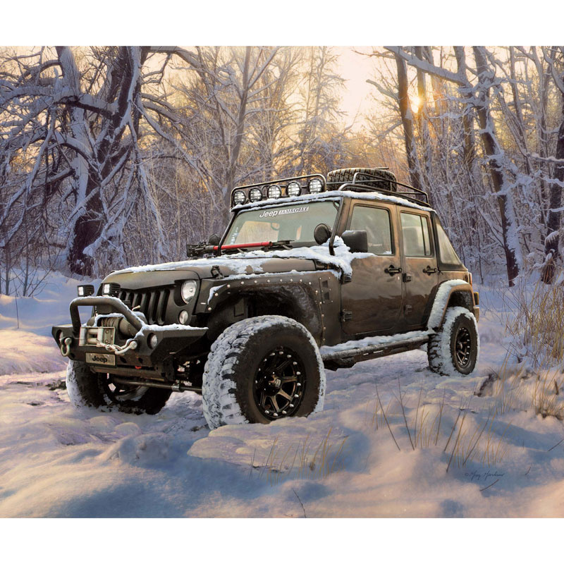 Jeep in the Wild - Jeep Black Digitally Printed Panel