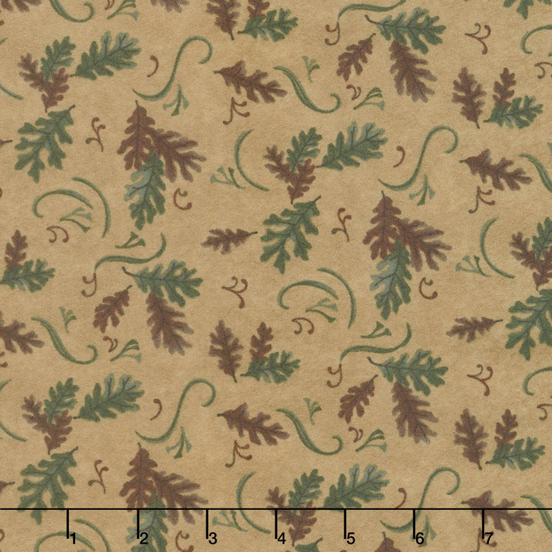 Return to Cub Lake - Oak Leaves Golden Flannel Yardage