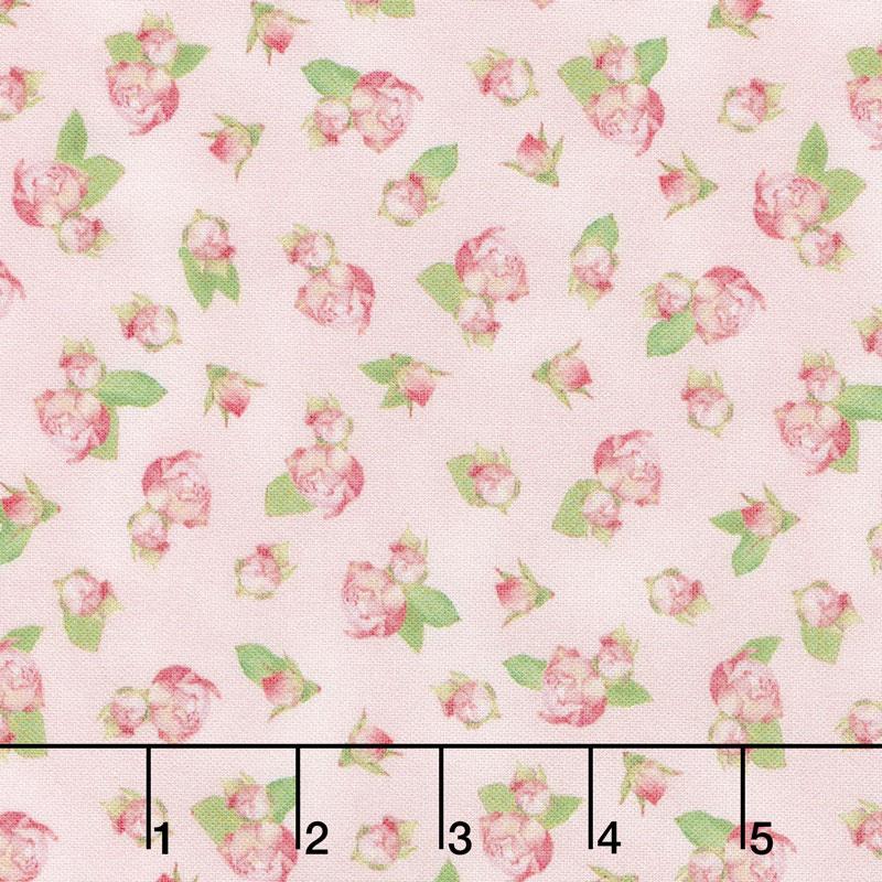 Farmhouse Rose - Roses Pink Yardage