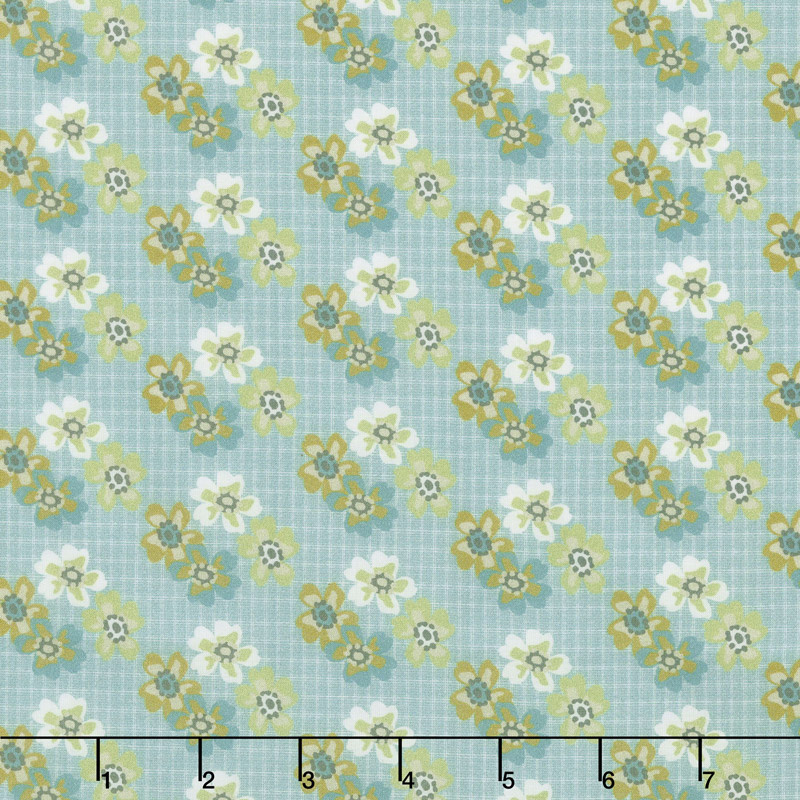 Floral Hues - Bouquet Teal Cotton Lawn Yardage