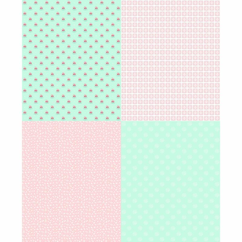 A Little Sweetness - Mint Fat Quarter Panel