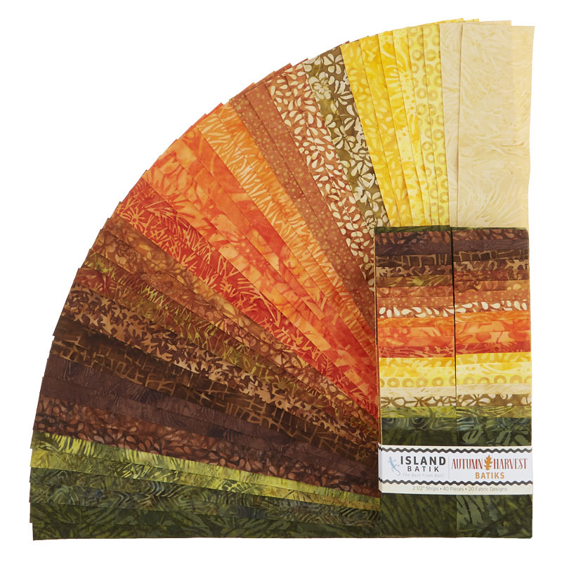 Autumn Harvest Batiks Strips