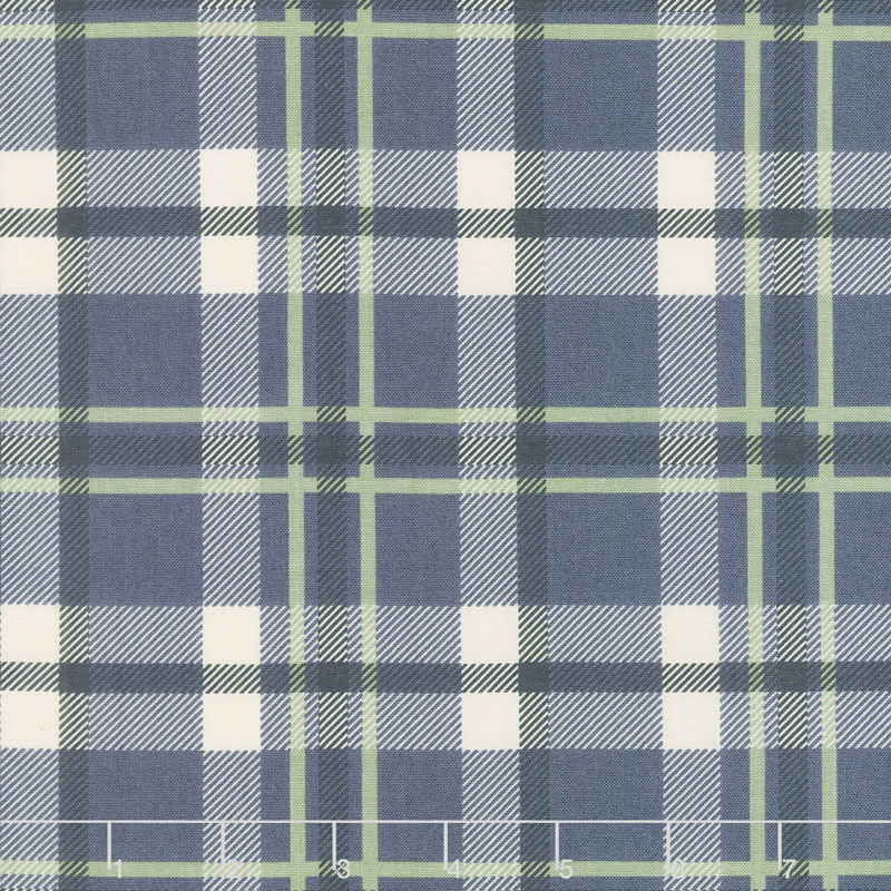 Harvest Road - Forever Plaid Indigo Yardage