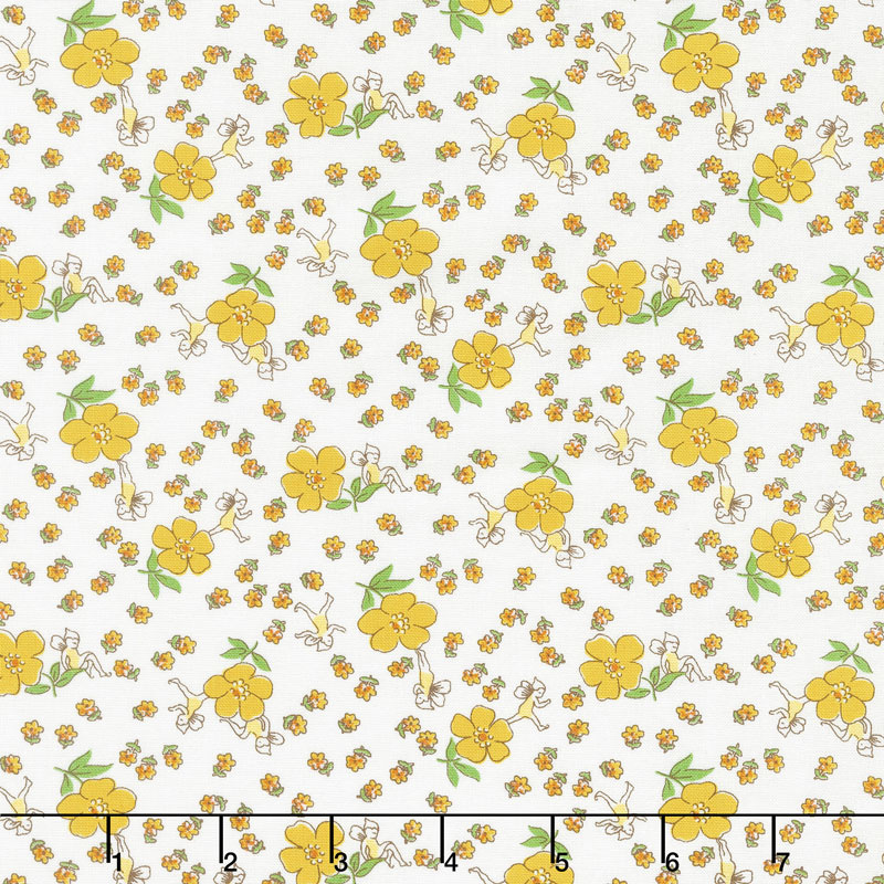 Storybook Sleepytime - Dream Weaver Yellow Yardage