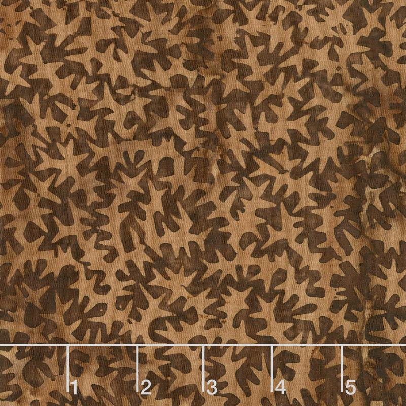 Autumn Harvest Batiks - Spikes Cappuccino Yardage
