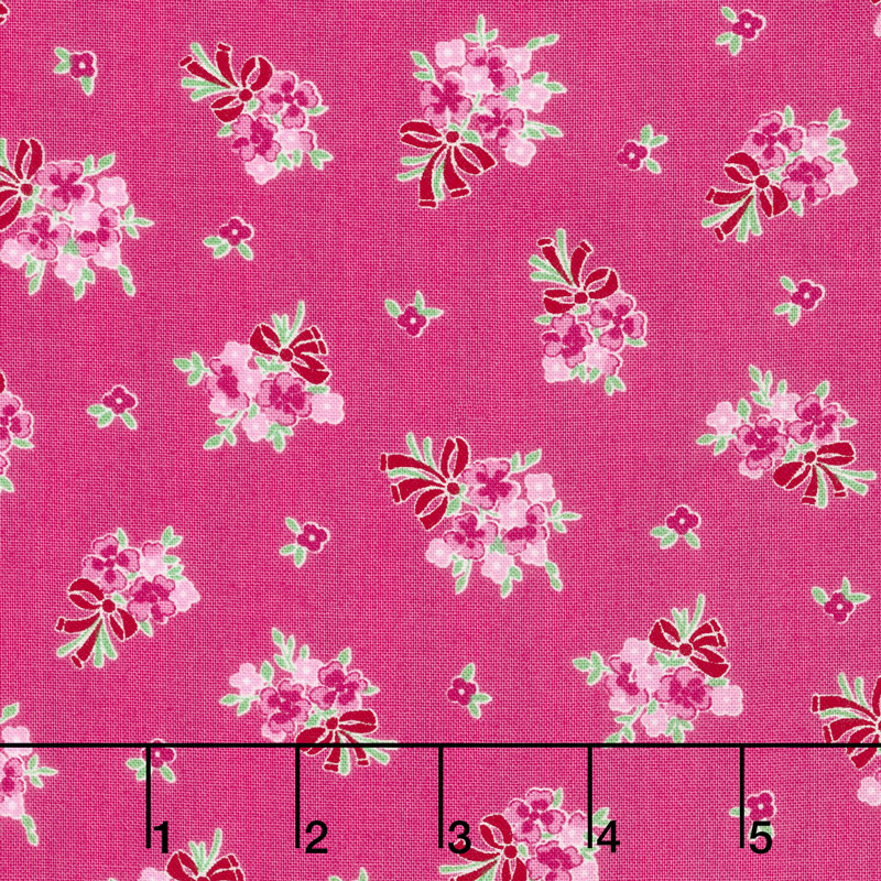 Guest Room - Bouquet Raspberry Yardage
