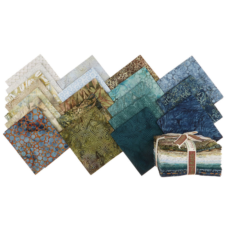 Sand Bar Batiks Fat Quarter Bundle