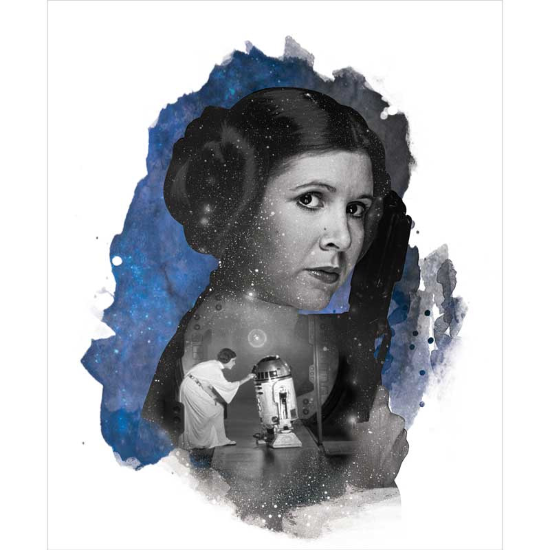 Star Wars - Princess Leia Blue Panel