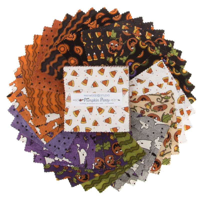 Pumpkin Party Flannel Charm Pack