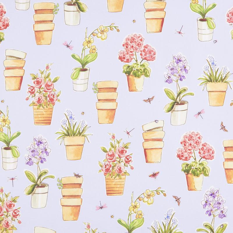 Greenhouse - Potted Flowers Hydrangea Yardage