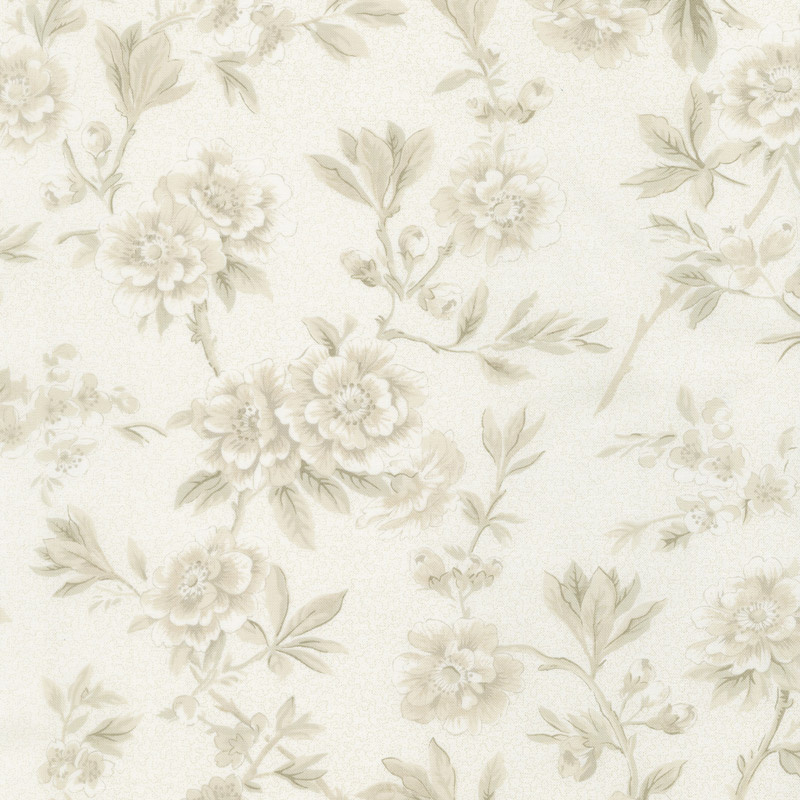 Regency Ballycastle Chintz 18th Century - Maghera Off White Yardage
