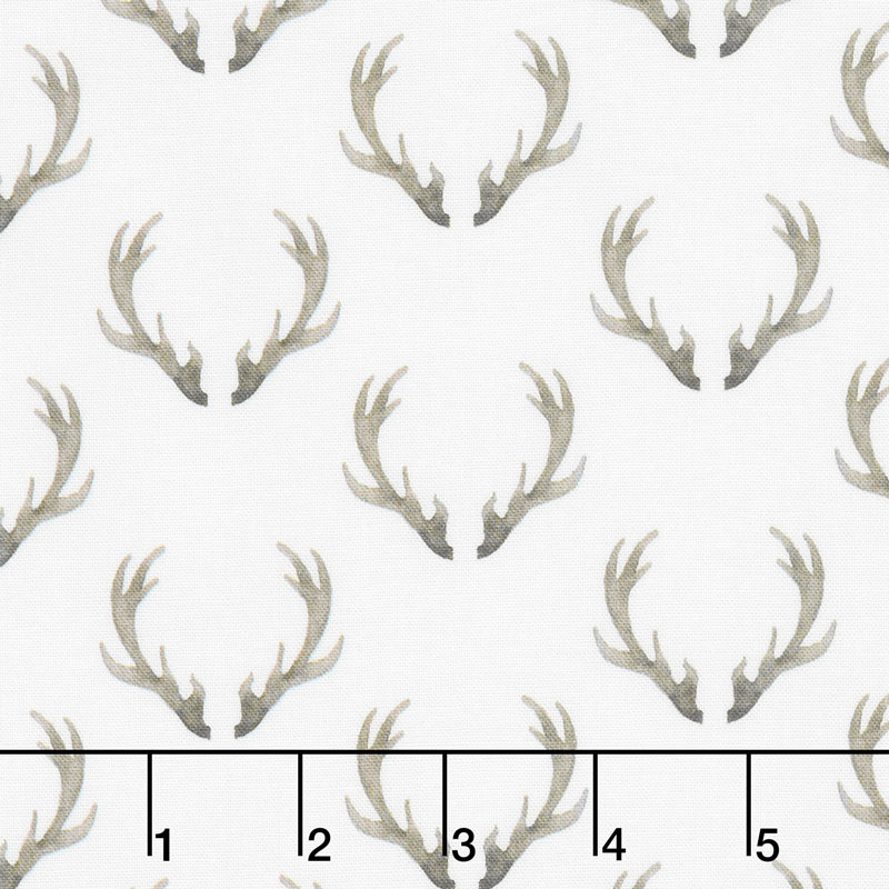 Winter Woods - Antlers in White Yardage