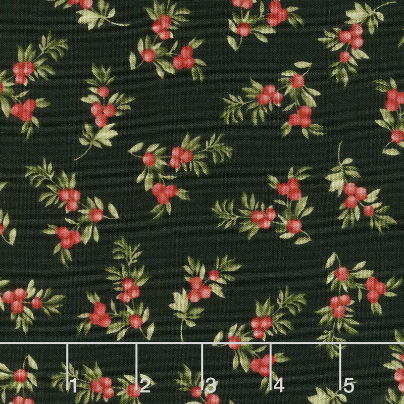 A Fruitful Life - Berry Branches Black Yardage