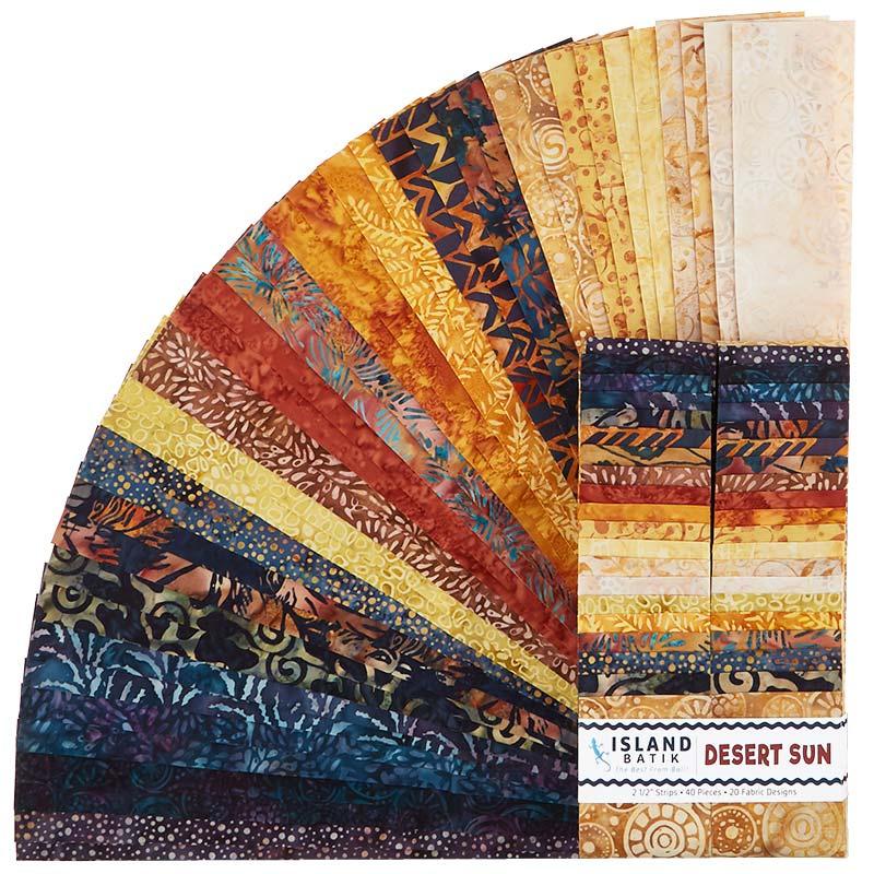 Desert Sun Batiks Strips