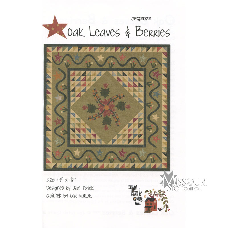 Oak Leaves and Berries Quilt Pattern