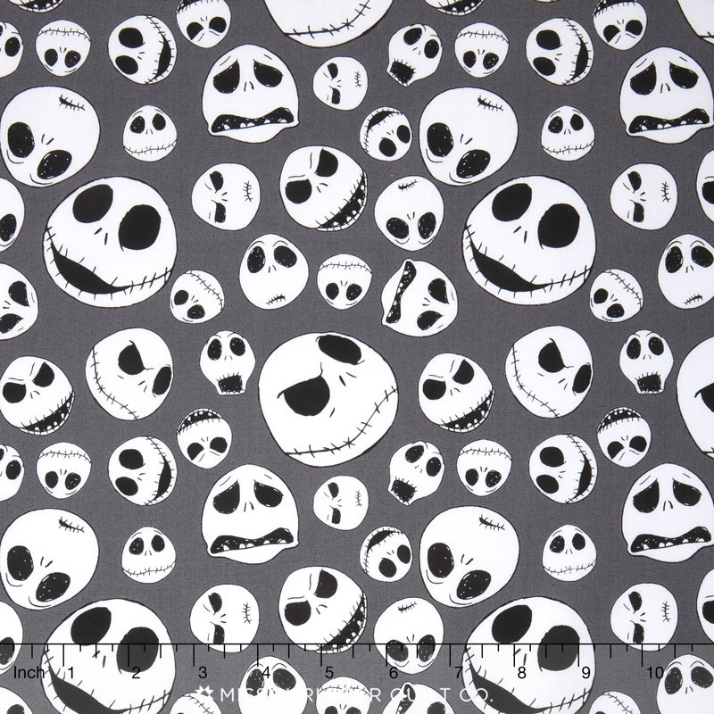 disney tim burtons the nightmare before christmas jack faces iron yardage