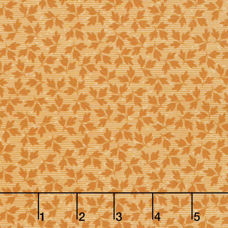 A Fruitful Life - Mini Leaves Orange Yardage