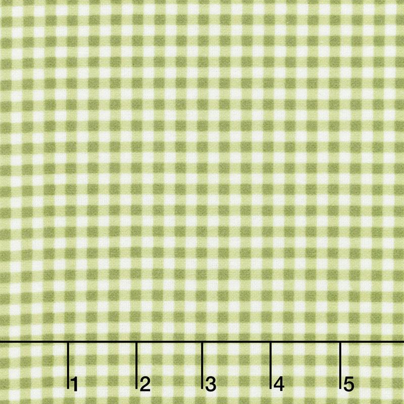 Wild Rose - Classic Check Soft Green Flannel Yardage