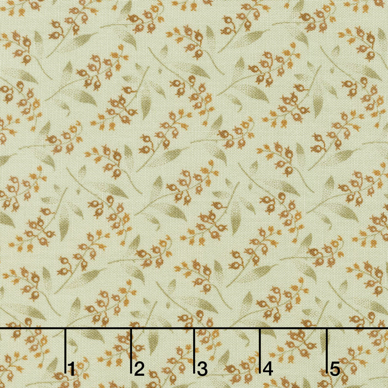 Bed of Roses - Lily of the Valley Mint Yardage