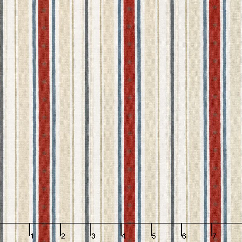 American Heritage - Stripe Tan Yardage