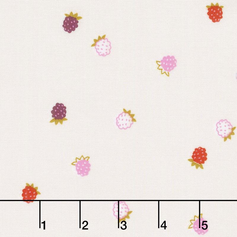 Wild Bouquet - Raspberries Cream Yardage