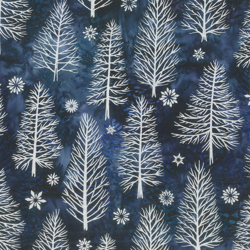 Artisan Batiks - Northwoods 8 Trees Evening Metallic Yardage