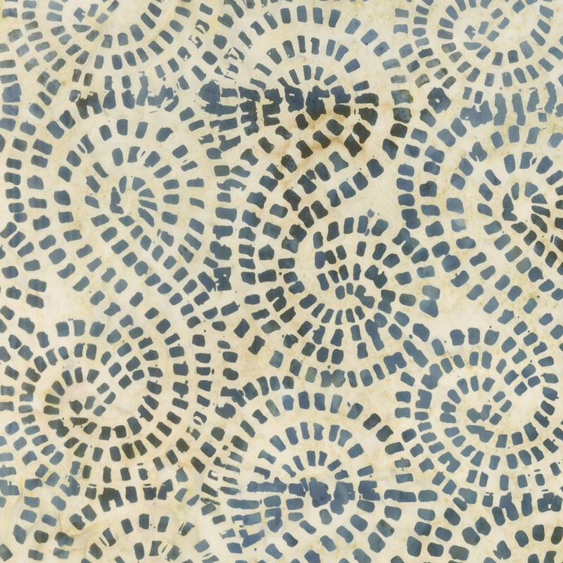 Tonga Batiks - Boathouse Mosaic Swirl Buff Yardage