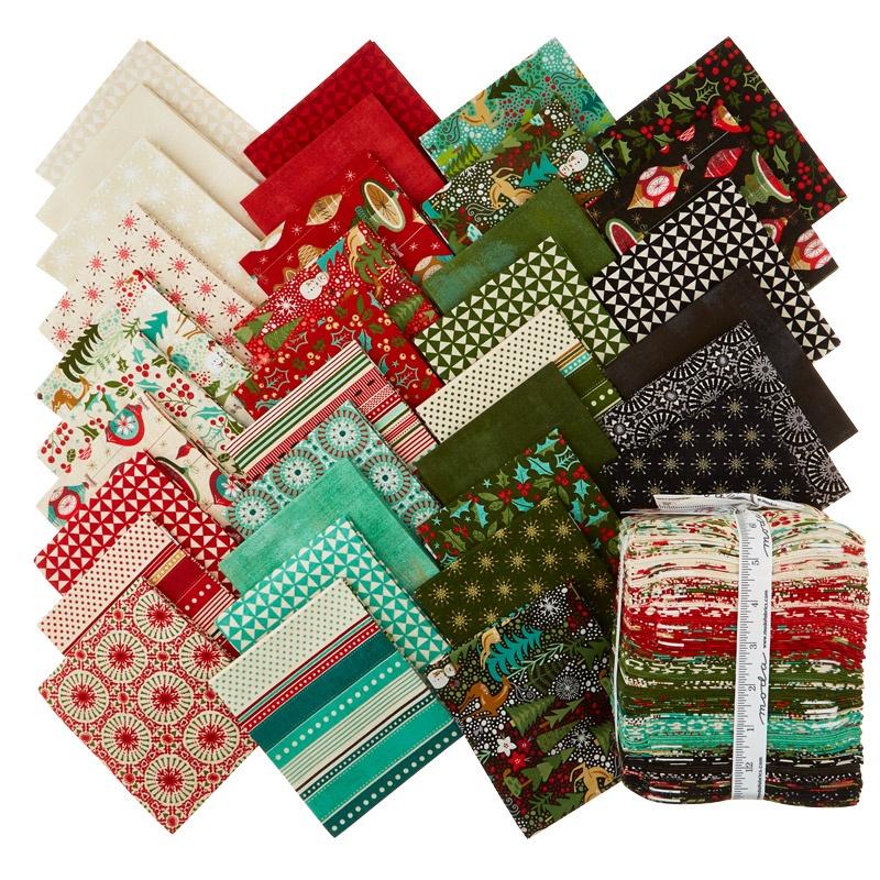 Berry Merry Fat Quarter Bundle Basicgrey Moda Fabrics