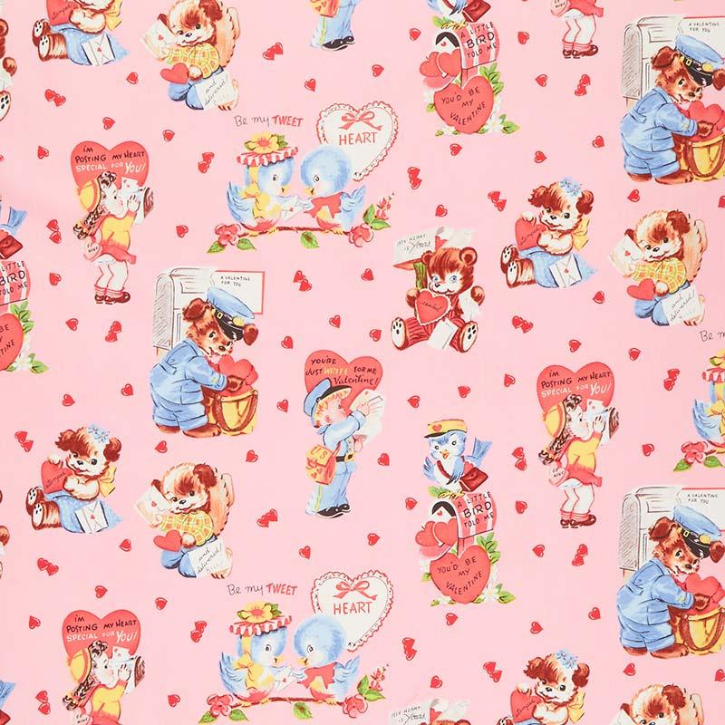 Love Letters - Main Pink Yardage