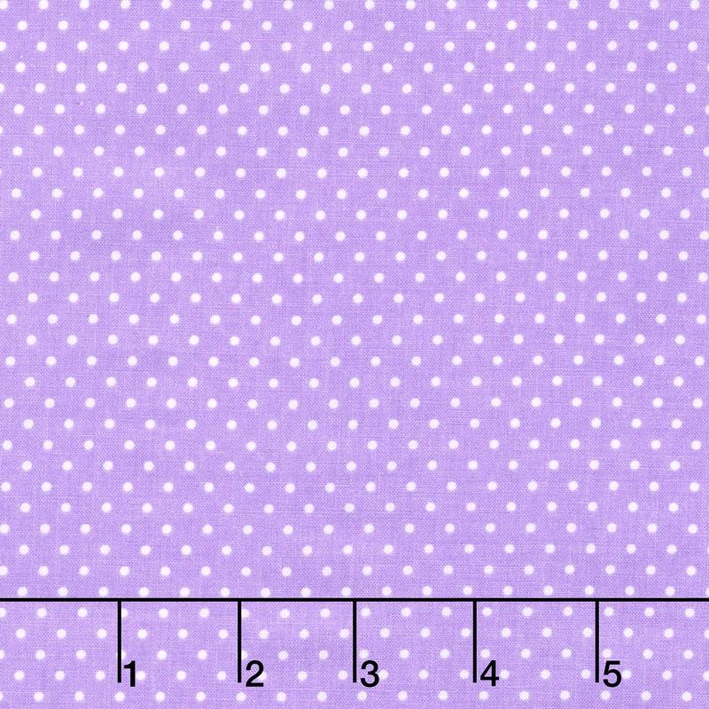 Swiss Dot - White Swiss Dot on Lavender Yardage