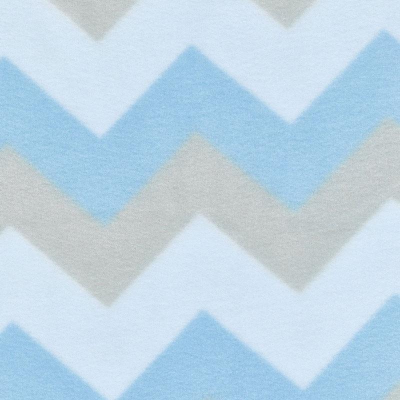 Winterfleece Prints Children - Chevron Blue Fleece Yardage