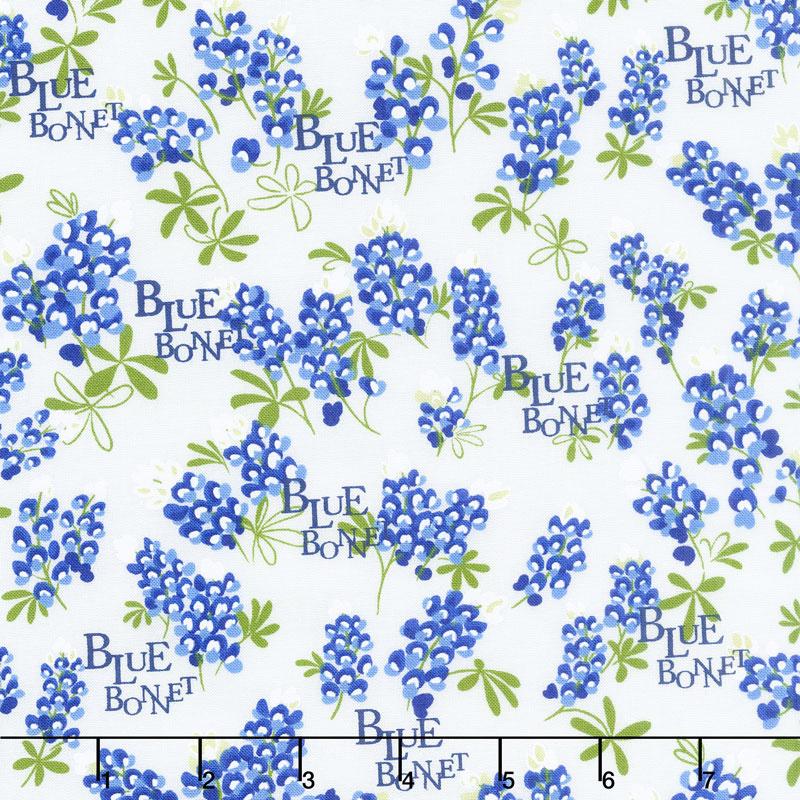 Bluebonnet Patch Bluebonnet Ivory Yardage Moda Fabrics
