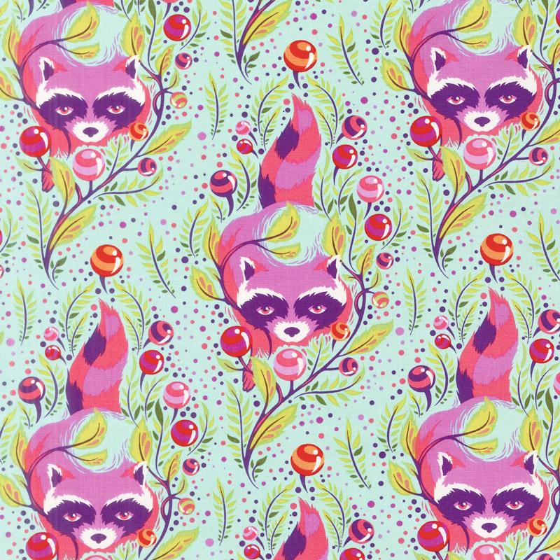Tula Pink's All Stars - Raccoon Poppy Yardage