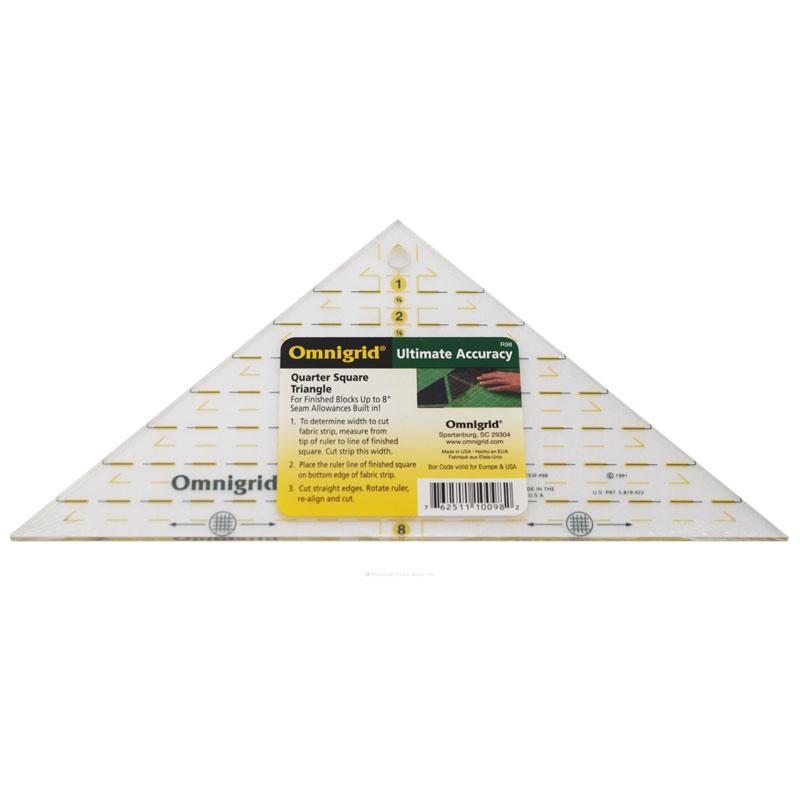 """Blocks Up to 8/"""" Omnigrid Ruler Quarter Square Triangle"""