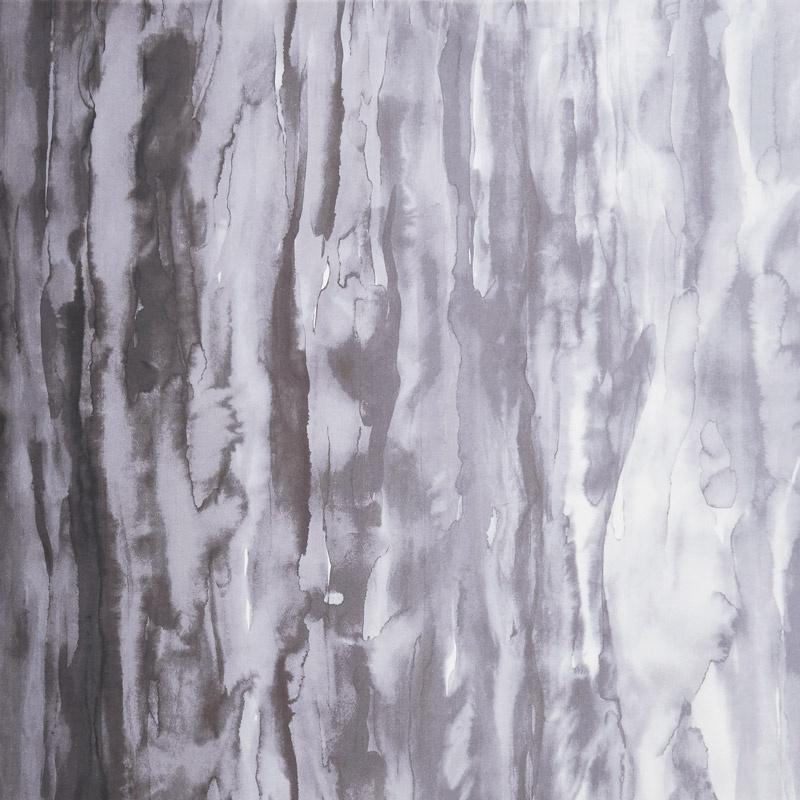 Gradients 2 - Onyx Watercolor Waves Digitally Printed Yardage