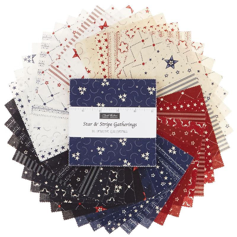 Star & Stripe Gatherings Charm Pack