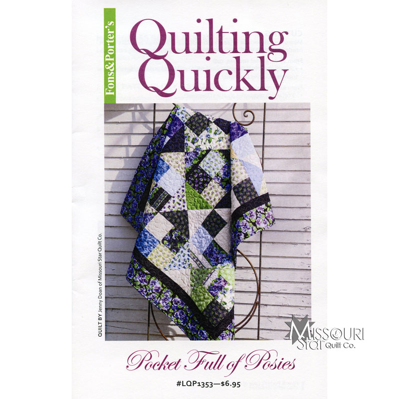 Pocket Of Posies Quilt Pattern.Pocket Full Of Posies Pattern Jenny Doan Fons Porter