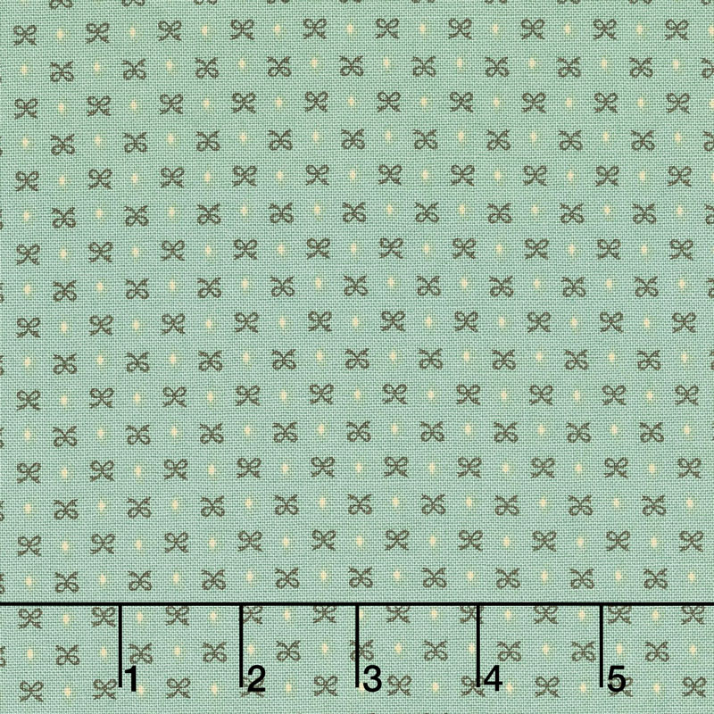 Sage & Sea Glass - Bitty Bows Blue Yardage