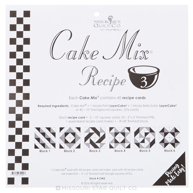 Cake Mix Recipe 3 by Miss Rosies Quilt Co Miss Rosies Quilt Co
