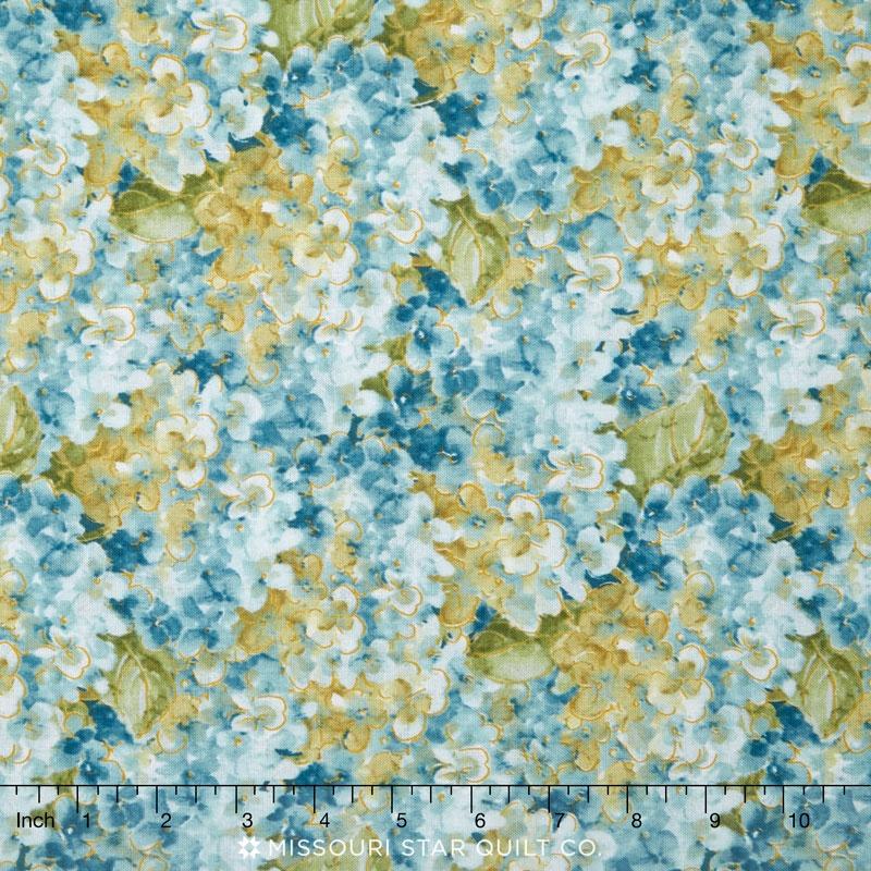 Rainbow Seeds - Hydrangea Blue Yardage