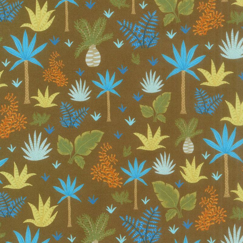 Prehistoric Adventure - Plants Bermuda Digitally Printed Yardage
