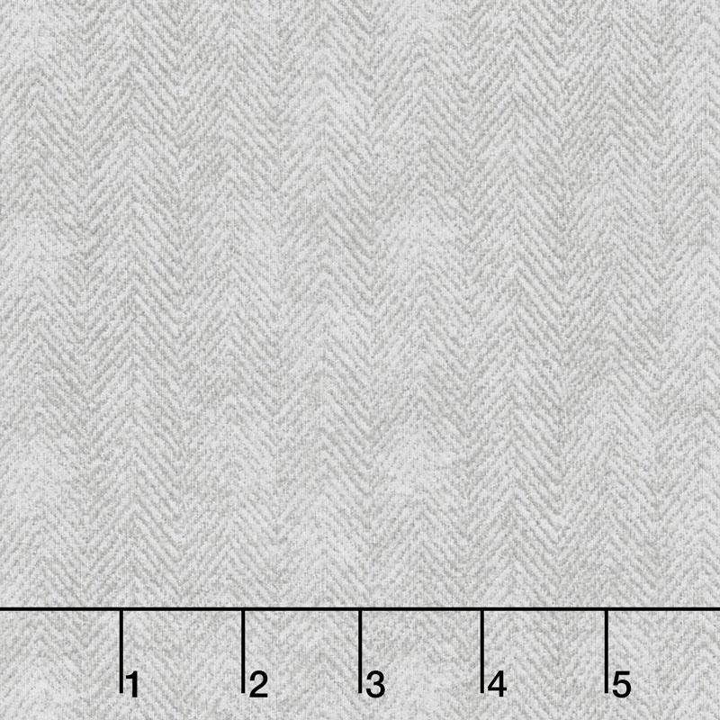 Woolies Flannel - Herringbone Light Grey