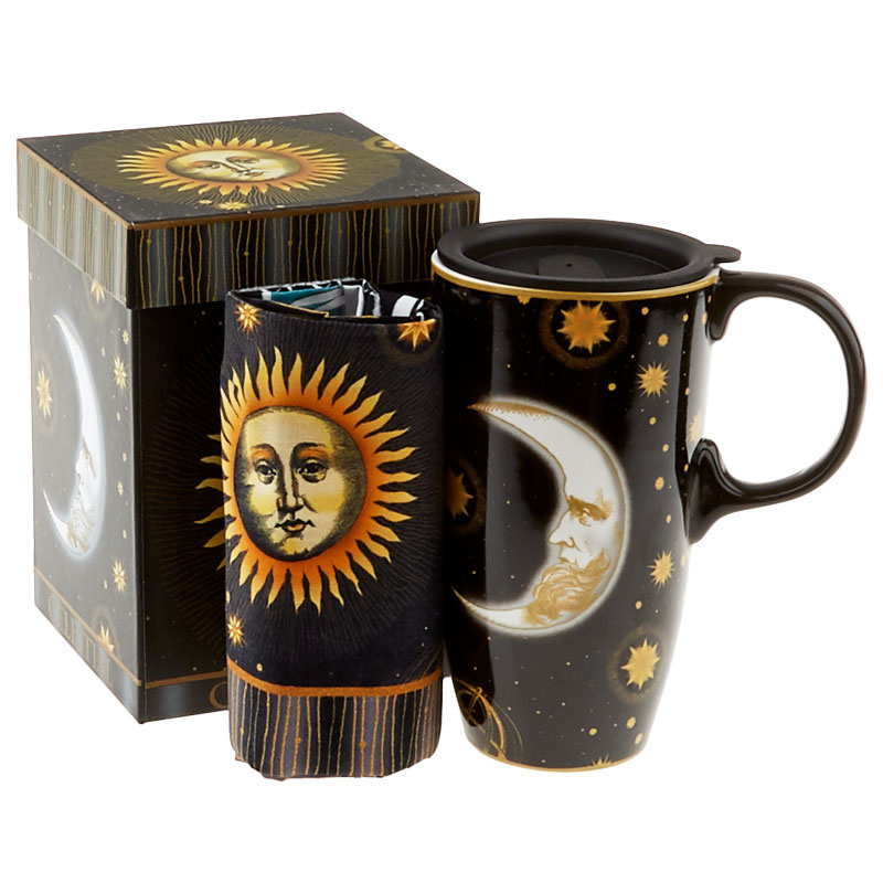 Celestial Travel Mug with Lunch Tote Panel