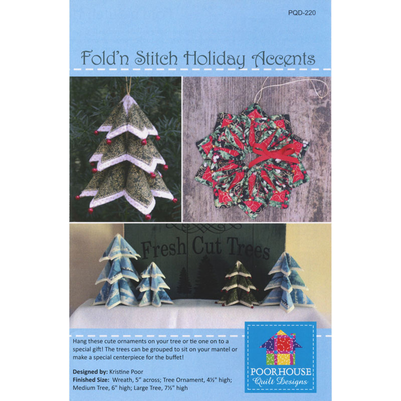 Fold'n Stitch Holiday Accents Pattern